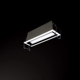 10W偏光洗墙灯开孔140*37mm/3000K/内黑外白/80°