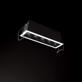 2W单头洗墙灯开孔37*37mm/4000K/内黑外白/45°
