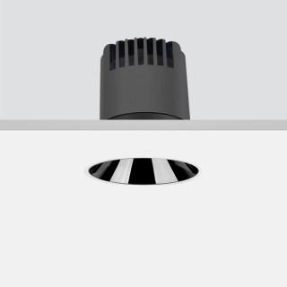 Dark 嵌入式筒灯 10W/15°/3000K/开孔80mm/750lm/有边框/亮银敞口