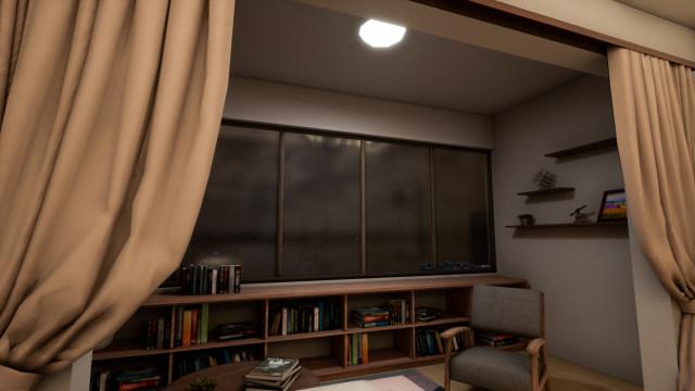 单个主灯的阳台功能性灯光体验