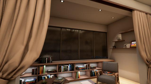 多种组合光的氛围营造兼具功能的阳台灯光体验