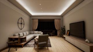 客厅无主灯灯光设计方案