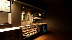 收银服务区装饰型灯光设计方案