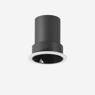 7W雅致系列深藏防眩定向下照射灯开孔65mm高显/3000K/24°/内黑外白/不可调光