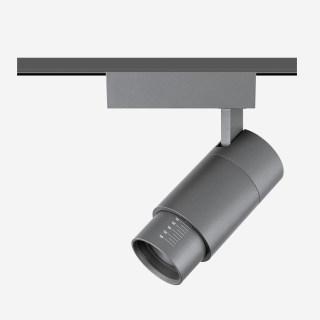 9W可调焦10-60°轨道射灯钛色/3000K/616lm/轨道安装