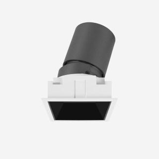 7W雅致系列深藏防眩格栅射灯不可拼接开孔67*67mm高显/3000K/36°/内黑外白/不可调光/可调25°