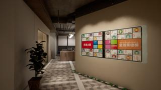 发布墙对比型灯光设计方案