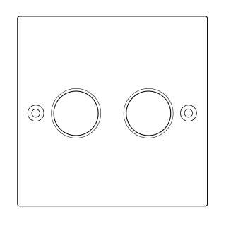 Lightopia Z572 双路旋钮开关 后切相调光