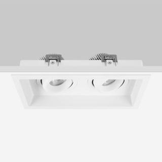 TWIN双子精致双头格栅射灯10*2W/3000K/20°/1600lm/开孔200×100mm