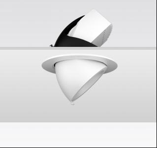 KAKA DW037 圆形嵌入式射灯 高显 象鼻灯 大角度可调节 商用 开孔尺寸115mm 18W/27W/30W