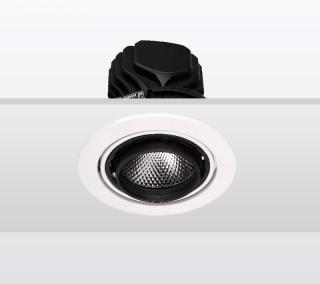 单头圆形嵌入射灯20W白色3000K/开孔112mm