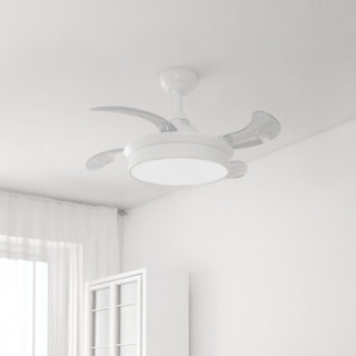 Yeelight逸扬智能风扇吊灯小米AI语音米家APP控制风扇灯客厅餐厅卧室简约带LED风扇隐形吊扇