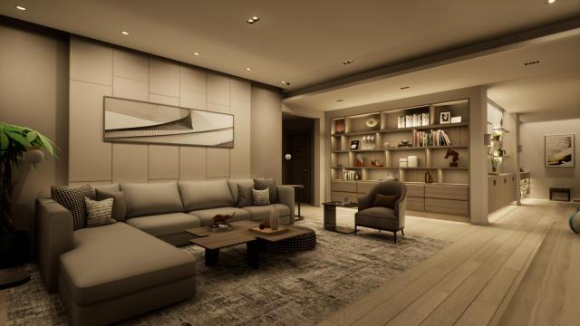 客厅功能主义(无主灯)灯光设计