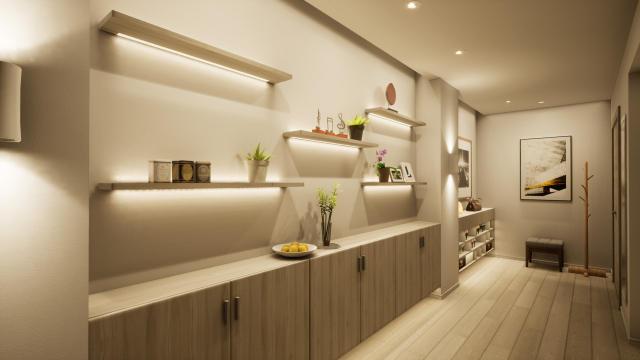 入户走廊现代简约(线条感)灯光设计