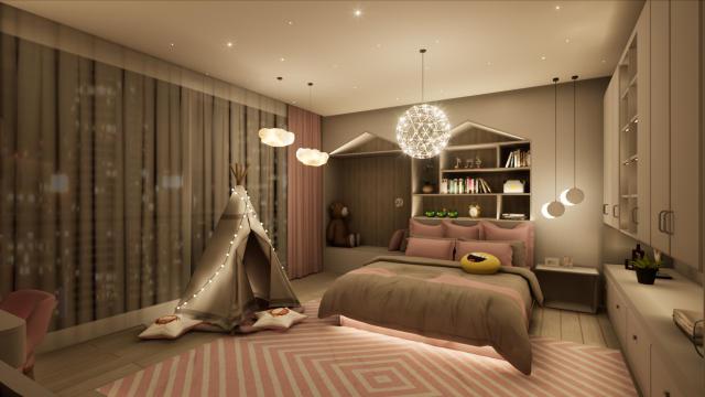 儿童房温馨柔和(含主灯)灯光设计