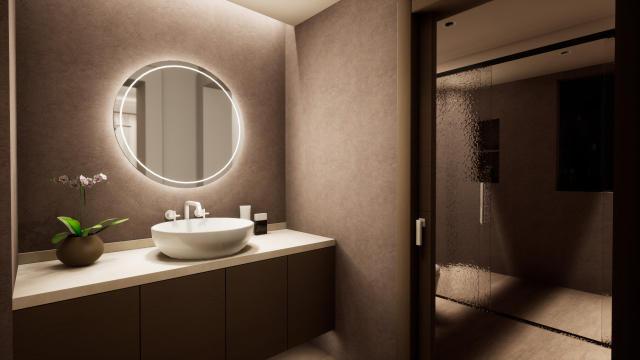 客卫生间温馨柔和灯光设计