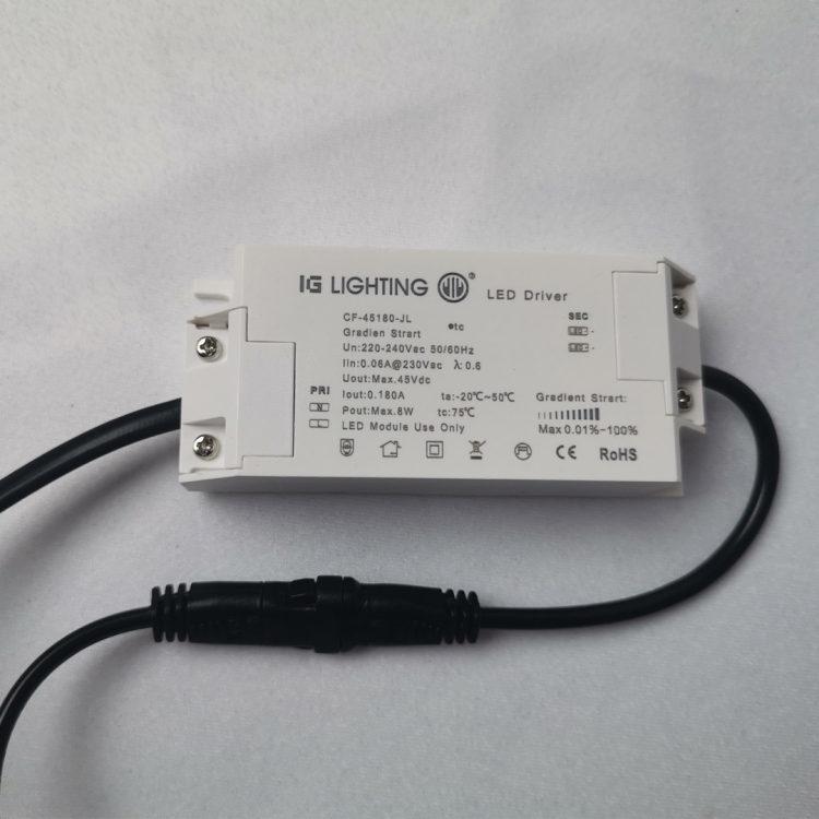 缓启动驱动器8W 适用于筒灯射灯COB光源灯具